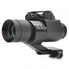 1X 35 milímetros Tactical Red / Green Dot Scope Visão Laser - Preto