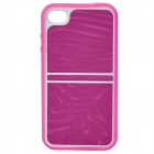 Detachable Protective Back Case Bumper Frame for Iphone 4 / 4S - Purple + White