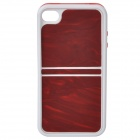 2-in-1 Schutz ABS Auto Frame w / Back Cover für iPhone 4 / 4S - Rot