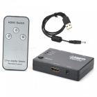 4-Port 1080p HDMI V1.4 Switch w/ Remote Control - Black (3-In / 1-Out)
