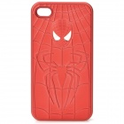 Cool Spider-Man Style Protective PVC Back Case for iPhone 4 / 4S - Red