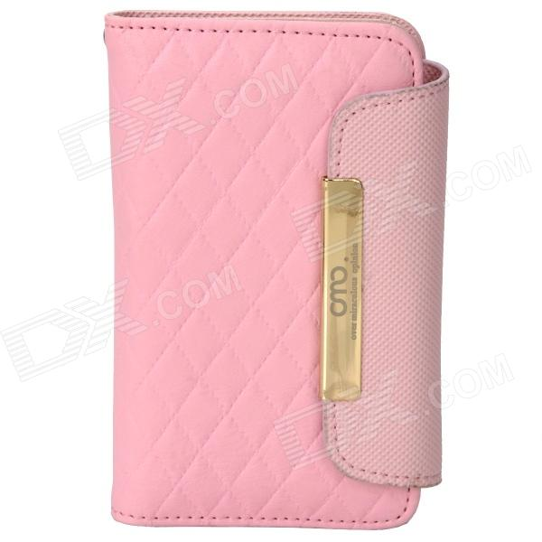 OMO Protective PU Leather Flip-Open Case for Iphone 4 / 4S - Pink protective pu leather flip open case for iphone 4 4s black