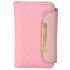 OMO Protective PU Leather Flip-Open Case for Iphone 4 / 4S - Pink