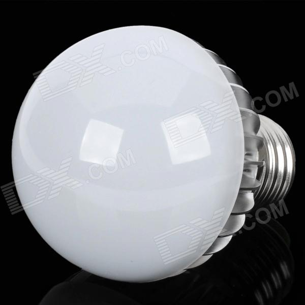 E27 4W 770lm 6300K Cool White LED Light Bulb Globular (AC 90 ~ 265V)