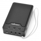 Portable Media-Player-Lautsprecher w / FM / TF / USB - Schwarz