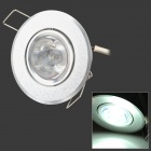 3W-THD-A-C 300-450lm 6000-6300K White Ceiling Light Lamp - Silver (90-265V)