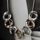 Stylish 7 Hollow Stereo Circles Pendant Necklace