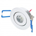 1W-THD-A-C 100-110lm 6000-6300K White Ceiling Light Lamp - Silver (90-265V)