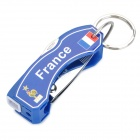"2012 European Cup ""The Blues"" Pattern Multi-Function 6-in-1 Nail Clipper - Blue + Silver"