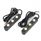 3W 240LM 6000~6500K 3-LED White Light Car Daytime Running Lamps (Pair / 12V)