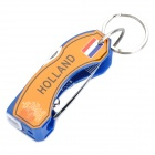 2012 European Cup KNVB Pattern Multi-Function 6-in-1 Nail Clipper - Blue + Silver