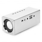 Portable MP3 Player Speaker w/ FM / TF / USB / AUX / ANT - Silver