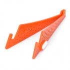 Compact Stainless Steel + Plastic Stand Mount Holder for Tablets - Orange