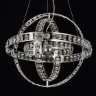 Chrome Finish Crystal Chandelier with 4 lights - Sphere Design 110-120V