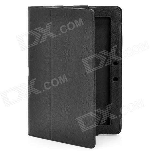 Protective PU Leather Case for Asus Eee Pad TF300 - Black asus eee pc t91 в минске