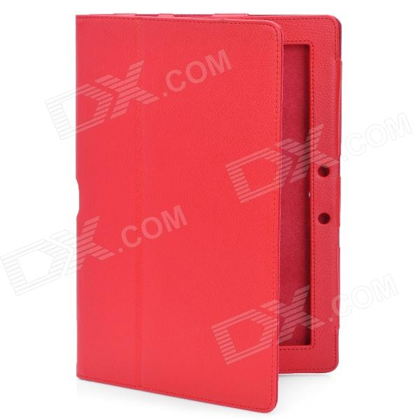 Protective PU Leather Case for Asus Eee Pad TF300 - Red asus eee pc t91 в минске