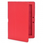 Protective PU Leather Case for Asus Eee Pad TF300 - Red