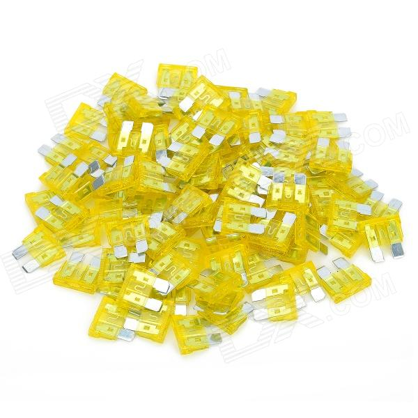 12V 20A Car Power Fuses - Yellow (100-Piece Pack) thumbnail