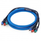 FUJICABLES 24K Gold Plated 3-RCA Male to Male AV Cable - Blue (200cm)