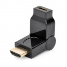 180 Degree Rotatable HDMI Male to Mini HDMI Female Converter Adapter - Black