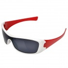 Fashion UV400 UV Protection Resin Lens Sports Sunglasses Goggle - White + Red