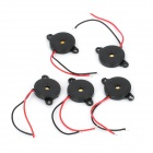 22mm x 3mm Piezo Buzzers - Black (DC 9V / 5-Pack)