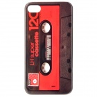 Retro Cassette Tape Style Protective PC Back Case for Iphone 4 / 4S - Black + Red