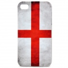 Vintage England Flag Pattern Protective PC Back Case for Iphone 4 / 4S - Red + White