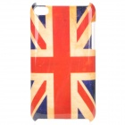 Vintage United Kingdom Flag Pattern Protective PC Back Case for Ipod Touch 4 - Red + Blue + Beige