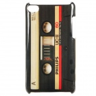 Retro Cassette Tape Style Protective PC Back Case for Ipod Touch 4 - Black