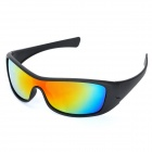 Fashion UV400 UV Protection Resin Lens Sports Sunglasses Goggle - Black