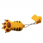 Cartoon Tiger Claw Style USB 2.0 Flash Drive - Yellow (4GB)