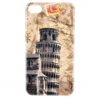 Stylish Protective PC Back Case for Iphone 4 / 4S - Leaning Tower of Pisa Pattern