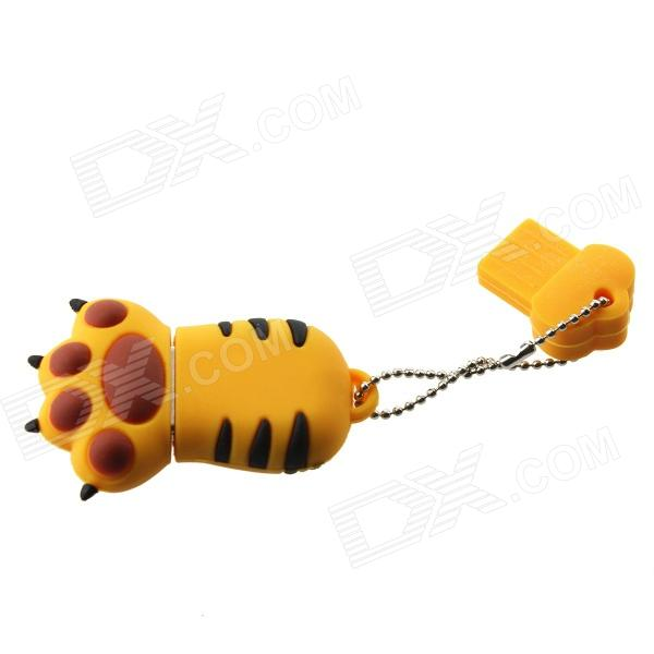Cartoon Tiger Claw Style USB 2.0 Flash Drive - Yellow (32GB) free shipping high speed usb 3 0 pen drive memory stick flash drive 128gb flash drive memory