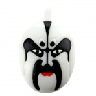 Beijing Opera Facial Masks Style USB 2.0 Flash Drive - Black + White (16GB)