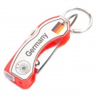 2012 European Cup Germany Logo 6-in-1 Multi-Tool Knife with Keychain - White + Red + Silver