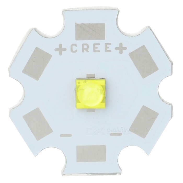 DIY 5W 393LM Cold White CREE XTE R5 LED Plate Module (DC 3.2-3.6V)Leds<br>Model6302MaterialPlastic + AluminiumColorYellow + White + SilverQuantity1EmittersCREE XTE R5Power5 W Color BIN Cold White Rate Voltage3.2~3.6 V / 1.5A(MAX.)Luminous Flux393 lmColor Temperature6000~7000 KConnector TypeN/AApplicationfor LED flashlights, or daily used lighting productsPacking List1 * LED light bulb w/ aluminum plate<br>