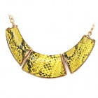 Fashion Ethnic Style Snakeskin Printed Necklace - Yellow + Black