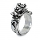 Cool Chinese Dragon Style Ring - Silver (20mm-Diameter)