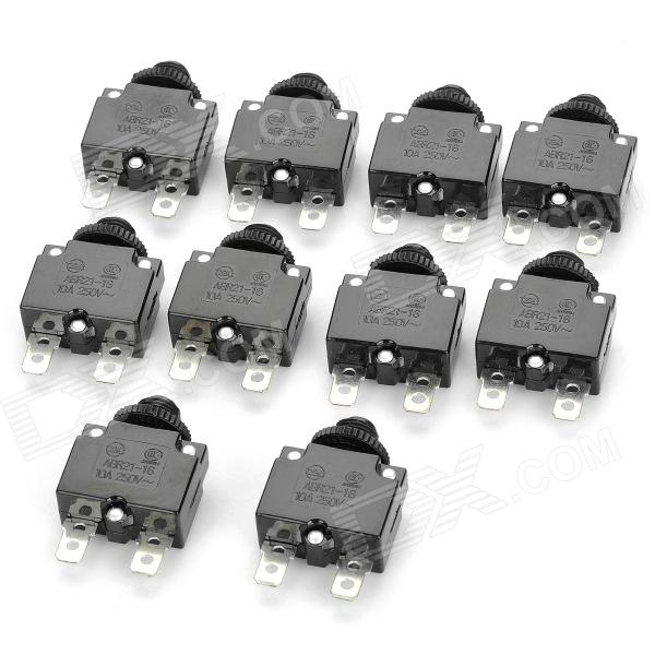Mini Thermal Over-Load Protector DIY Parts (10-Piece Pack) no ac contacot 5 65a thermal overload relay motor protector 11kw 220v