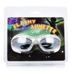 LED Flashing White Light Glasses for Club Party