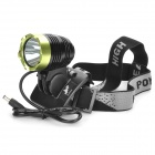 Cree XM-L T6 600LM 3-Mode Bike Bicycle Light - Black (4 x 18650)