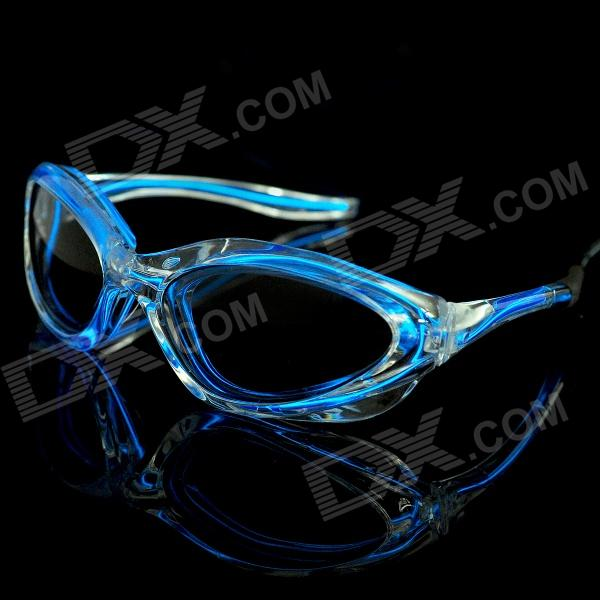 LED Flashing Blue Light Glasses for Evening Club Party (2 x AA)
