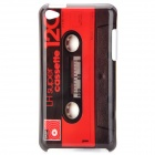 Retro Cassette Tape Style Protective PC Back Case for Ipod Touch 4 - Red + Brown