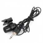 Handsfree 3.5mm Jack Microphone with Clip - Black (120cm)