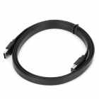 USB 3.0 Male to Female Extension Flat Cable - Black (145cm)