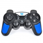 Topway 2.4GHz Wireless Dual-Shock Gaming Controller for PS2 / PS 3 / PC - Black + Blue
