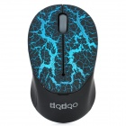 Mini 2.4GHz 1000DPI Wireless Optical Mouse - Black + Blue (1 x AAA)
