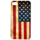 Vintage United States US flag Style Protective PC Back Case for iPhone 4 / 4S - Red + Blue 