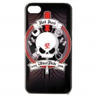 Cool Skull Pattern Protective PC Back Case for Iphone 4 / 4S - Black + White + Red